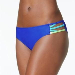 California Waves Strappy Hipster Bikini Bottoms